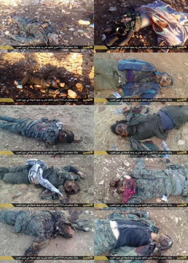isis-posted-pictures-kurdish-soldiers-they-executed-including-female-fighters